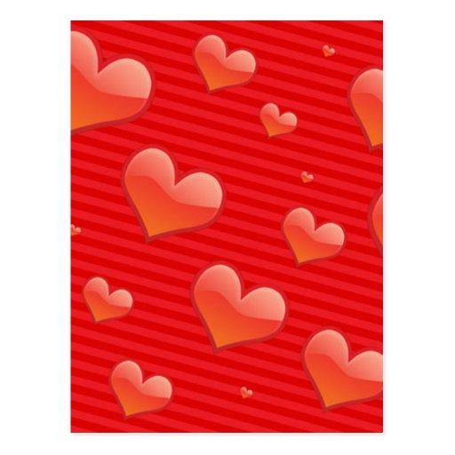 Glossy Glass Heart Post Card