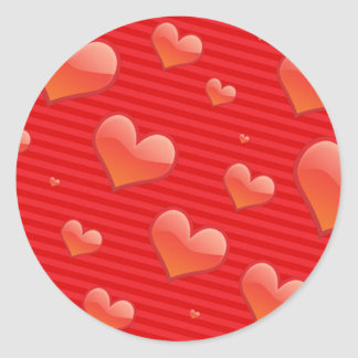 Glossy Glass Heart Stickers