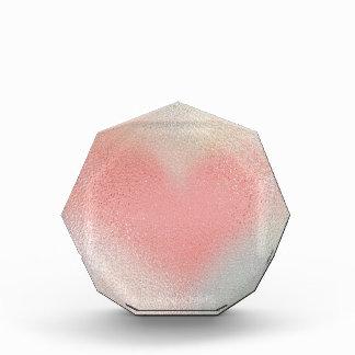 Glossy Glass pastel color heart Acrylic Award