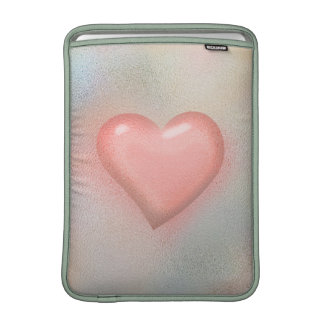 Glossy Glass pastel color heart MacBook Sleeves
