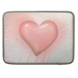 Glossy Glass pastel color heart Sleeve For MacBook Pro