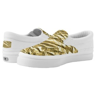 Glossy gold foil Slip-On sneakers