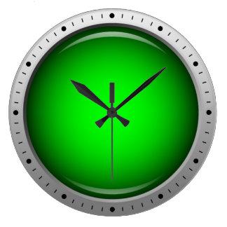 Glossy Green Round Icon Clock
