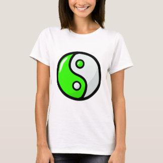 Glossy Green Yin Yang in Balance T-Shirt