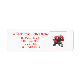Glossy Grizzly Christmas Pointer Label