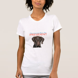 Glossy Grizzly: I'm smarter than the president T-Shirt