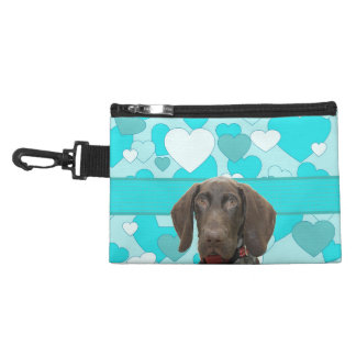 Glossy Grizzly in Blue Accessories Bag