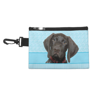 Glossy Grizzly in Blue Accessory Bag