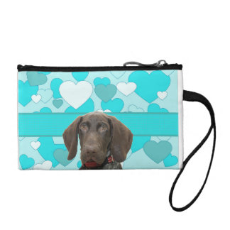 Glossy Grizzly in Blue Change Purse
