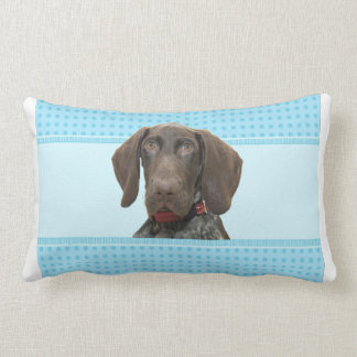 Glossy Grizzly in Blue Home decoration Lumbar Pillow