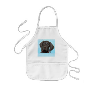 Glossy Grizzly in Blue Kitchen & Dining Kids' Apron