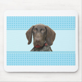 Glossy Grizzly in Blue Mouse Pad