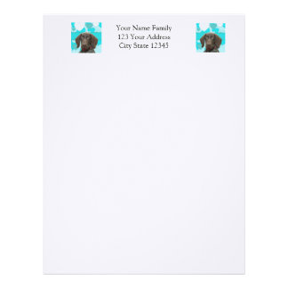 Glossy Grizzly in Blue Stationary Letterhead Design