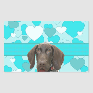 Glossy Grizzly in Blue Rectangular Sticker
