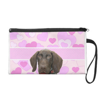 Glossy Grizzly in Pink Wristlet Clutch