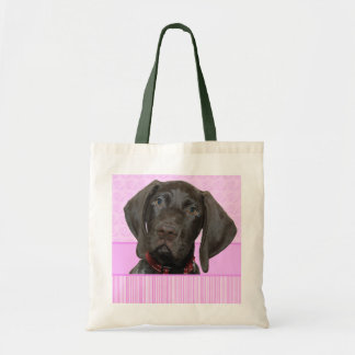 Glossy Grizzly in Pink Tote Bags