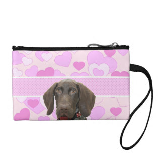 Glossy Grizzly in Pink Change Purse