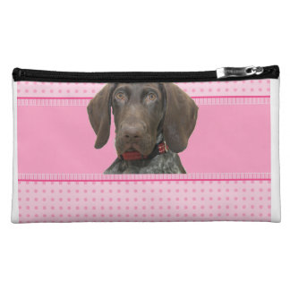 Glossy Grizzly in Pink Cosmetics Bags