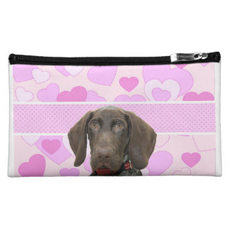 Glossy Grizzly in Pink Cosmetic Bag
