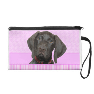 Glossy Grizzly in Pink Wristlet Purse