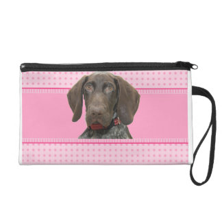 Glossy Grizzly in Pink Wristlet Purses