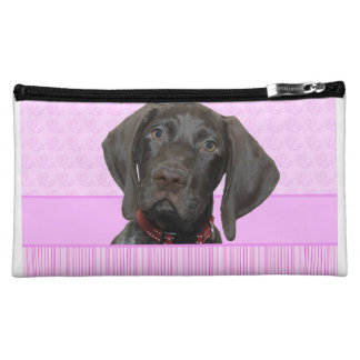 Glossy Grizzly in Pink Makeup Bags
