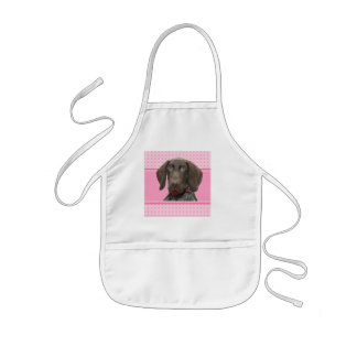 Glossy Grizzly in Pink Kids' Apron