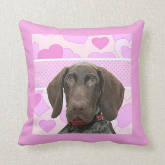 Glossy Grizzly in Pink Throw Pillow