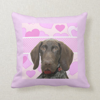 Glossy Grizzly in Pink Throw Pillows