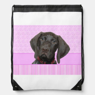 Glossy Grizzly in Pink Cinch Bag