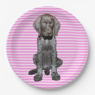 Glossy Grizzly in Pink 9 Inch Paper Plate