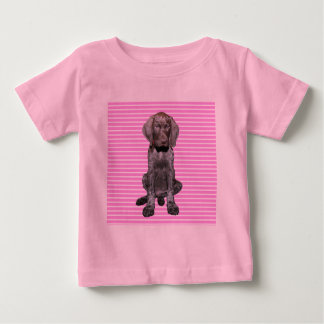 Glossy Grizzly in Pink T-shirt