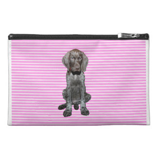 Glossy Grizzly in Pink Travel Accessories Bags