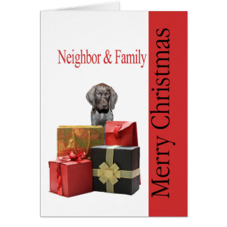 Glossy Grizzly Neighbor & Family Merry Christmas Card