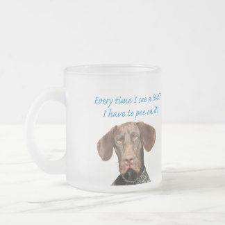 Glossy Grizzly pee on a BUSH Frosted Glass Coffee Mug