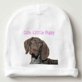 Glossy Grizzly Puppy Girl Baby Beanie