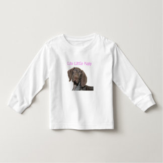 Glossy Grizzly Puppy Girl Toddler T-shirt