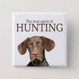 Glossy Grizzly true spirit of hunting Button