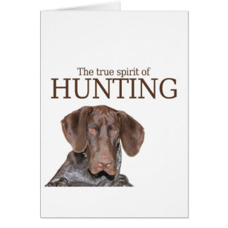 Glossy Grizzly true spirit of hunting Card