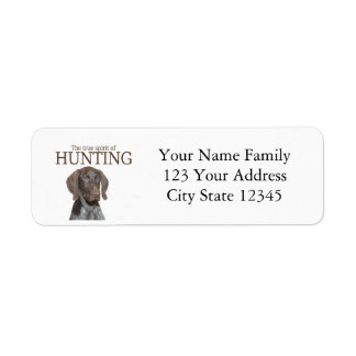 Glossy Grizzly true spirit of hunting Label