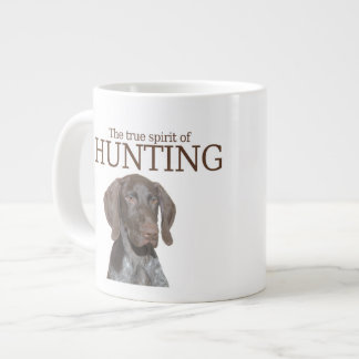Glossy Grizzly true spirit of hunting Large Coffee Mug