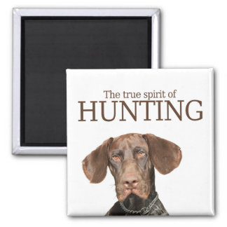 Glossy Grizzly true spirit of hunting Magnet