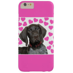 Glossy Grizzly Valentine's Puppy Love Barely There iPhone 6 Plus Case