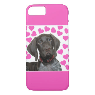Glossy Grizzly Valentine's Puppy Love iPhone 8/7 Case