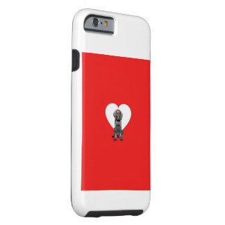 Glossy Grizzly Valentine's Puppy Love Tough iPhone 6 Case