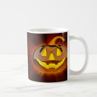 Glossy Halloween Pumpkin Basic White Mug