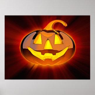 Glossy Halloween Pumpkin Poster