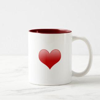 Glossy Heart Mug