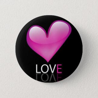 Glossy heart pinback button