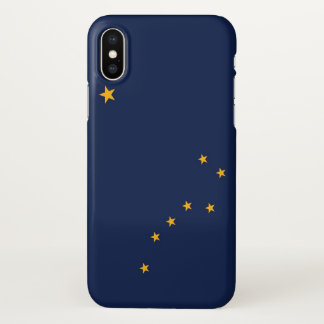 Glossy iPhone Case with Flag of Alaska, USA